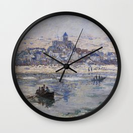 Vétheuil in Winter Wall Clock