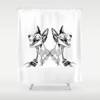 evil queen Shower Curtains featuring evil queen by vasodelirium