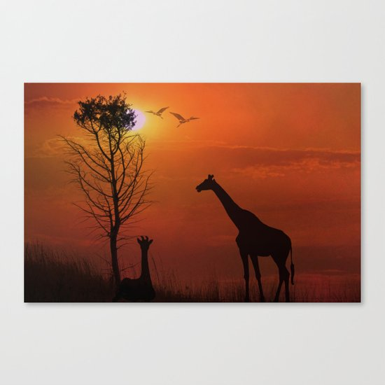 Sunset on the Plaines Canvas Print