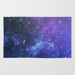 Purple Star Galaxy Rug