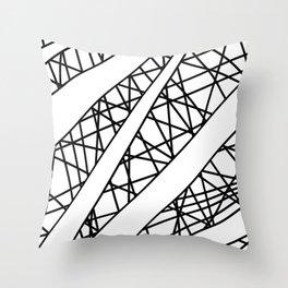 Lazer Dance X Throw Pillow