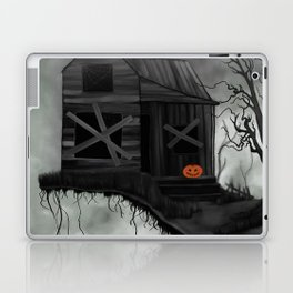 Haunted House and Jolly Pumpkin Laptop & iPad Skin