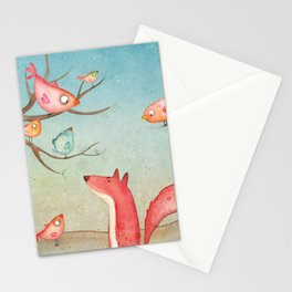 Gabriel's tales: Fox and the birds Stationery Cards