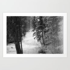 Crashing Through Trees Art Print