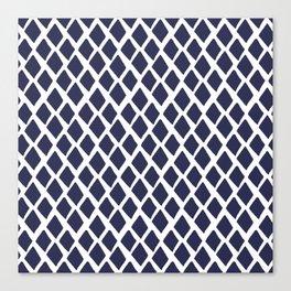 Rhombus Blue And White Canvas Print