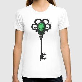Emerald Key Printmaking Art T-shirt