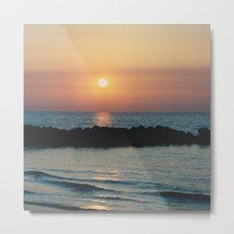 Sunset Ocean Bliss #1 #nature #art #society6 Metal Print