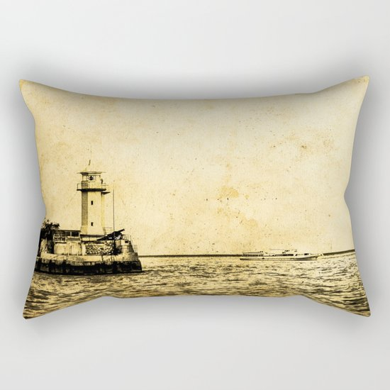Old Lighthouse (vintage) Rectangular Pillow