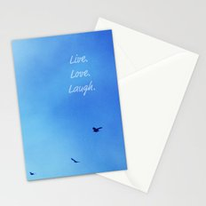 Live. Love. Laugh.  Stationery Cards