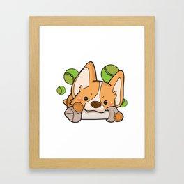 Funny Corgi Dog Gifts Framed Art Print
