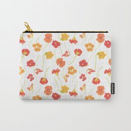 Watercolor Nasturtiums Carry-All Pouch