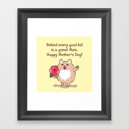 Happy Mother's Day Framed Art Print
