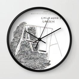 Childhood's garden Wall Clock