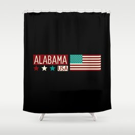 Patriotic Colors: Alabama Shower Curtain
