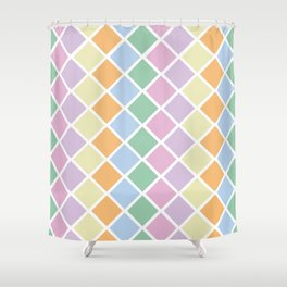 Pastel Diamonds Shower Curtain