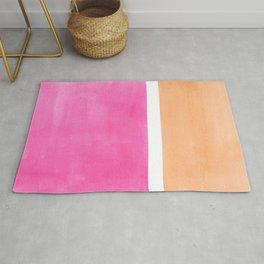 Colorful Bright Minimalist Rothko Pastel Pink Peach Midcentury Modern Art Vintage Pop Art Rug