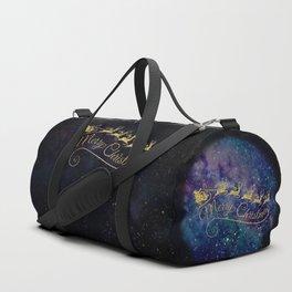 Santa Claus on Milky Way Duffle Bag