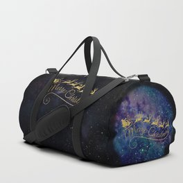 Santa Claus on Milky Way Duffle Bag