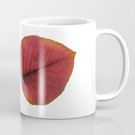 Leaf Art in Red Coffee Mug
