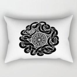 Tangled Serpents at Midnight Rectangular Pillow