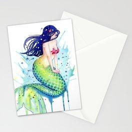 Mermaid Splash Stationery Cards