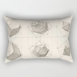 Crystal Geometry Rectangular Pillow