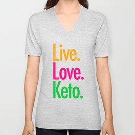 Live Love Keto Unisex V-Neck
