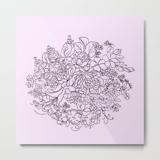 arrangement of flowers and leaves Metal Print