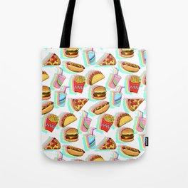 Rainbow Fast Food Tote Bag