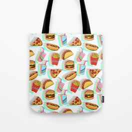 Rainbow Fast Food Tote Bag