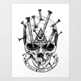Drive in the Nails by Fred Gonzalez Art Print