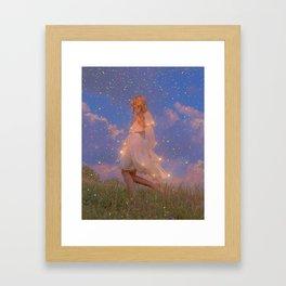 Walking Framed Art Print