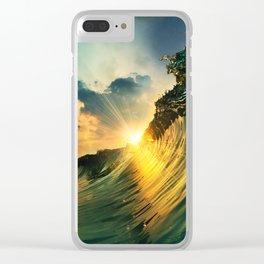 Beach - Waves - Sunset - Clouds - Sundown Clear iPhone Case
