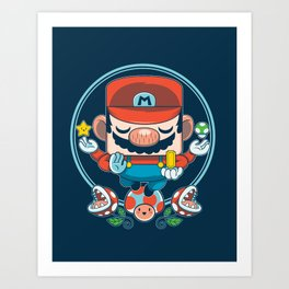 Mario - Bringer of Luck Art Print