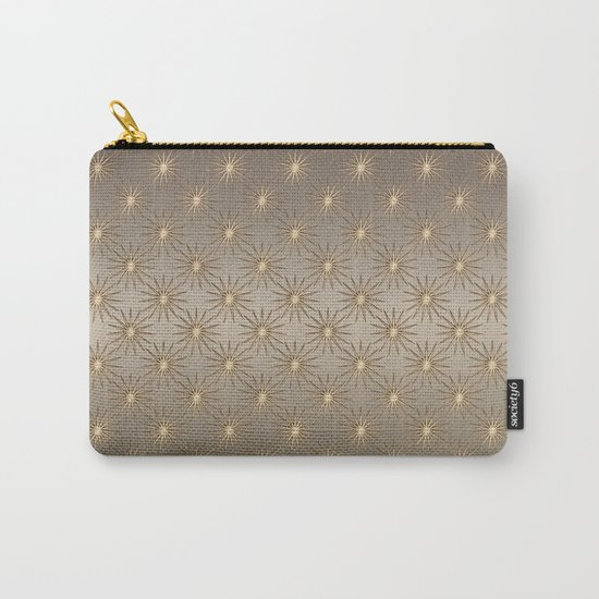 elegant shimmering golden Star pattern Carry-All Pouch