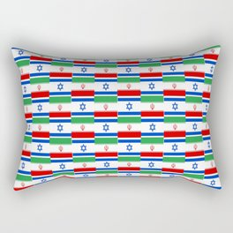 Mix of flag : Israel and Iran Rectangular Pillow