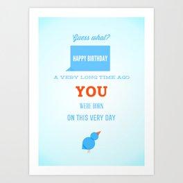 Happy birthday, Ancient One Art Print