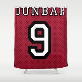Teen Wolf - Dunbar Lacrosse Banner Shower Curtain