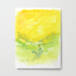 Walking in the Sun Metal Print