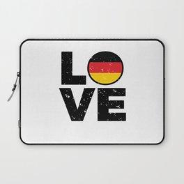 Germany Flag Shirt German Gift Idea Love Laptop Sleeve