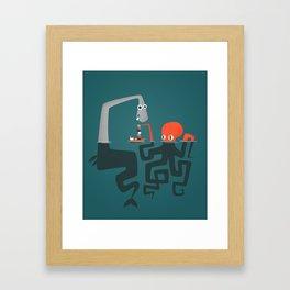Epic clash Framed Art Print