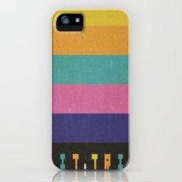 Minimalist Bit Trip Runner Poster iPhone Case