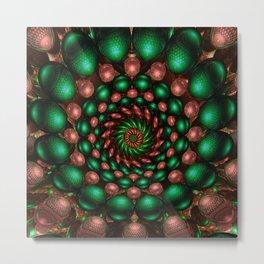 Copper Emerald Twirled Metal Print