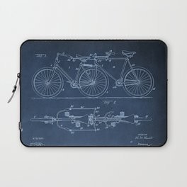 1898 E.M. Hunt Tandem Patent Art Print - Vintage Bicycle Patent  - Bike Patent Laptop Sleeve