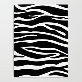 Classy Zebra print Poster