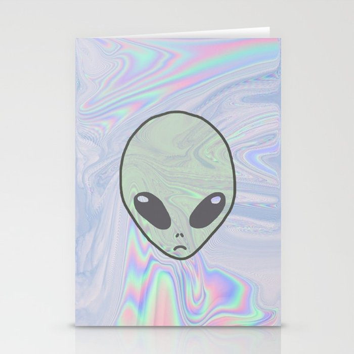 Alien Pastel Stationery Cards