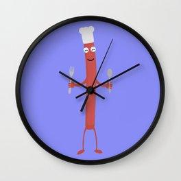 Sausage cook Wall Clock