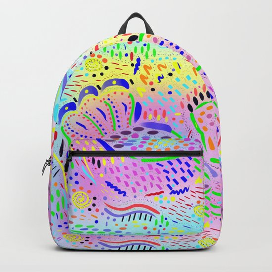 Sea Dream in Pastels, original artwork Backpack