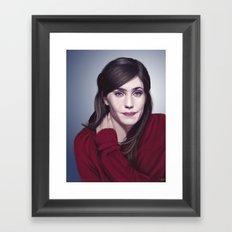 Laura Verlinden, Belgian actress Framed Art Print