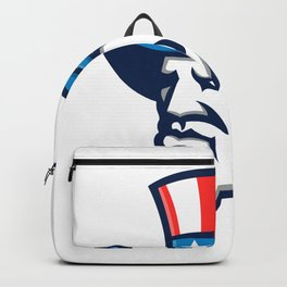 Uncle Sam Wearing USA Top Hat Mascot Backpack
